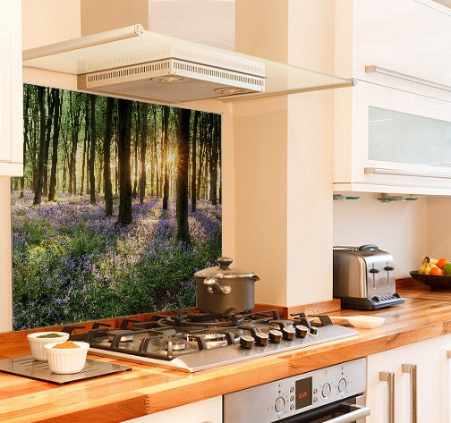 Bluebell diy kitchen glass splashback