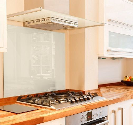 White Glass Splashback  995mm x 460mm