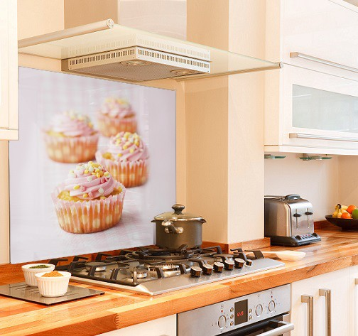 cupcake diy kitchen glass splashback