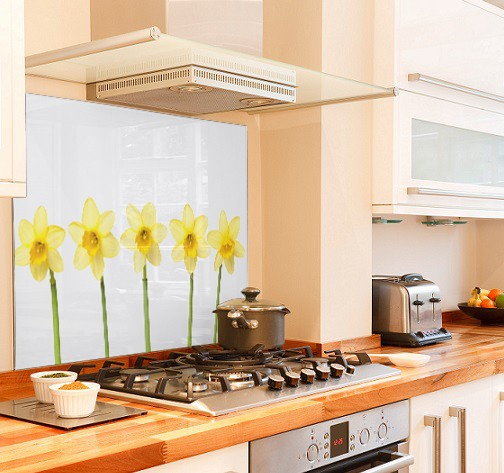 daffodil row diy kitchen glass splashback