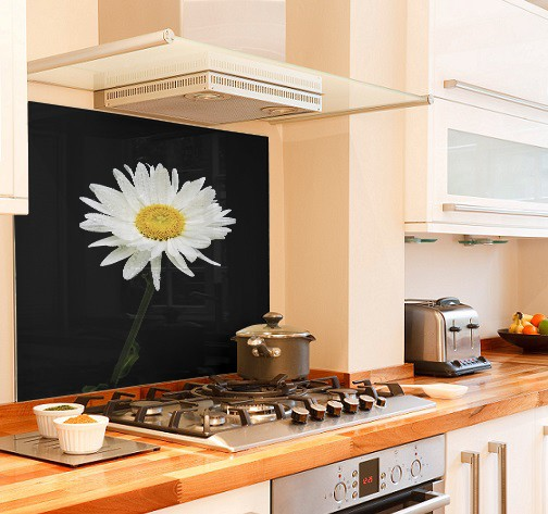 daisy design diy kitchen glass splashback
