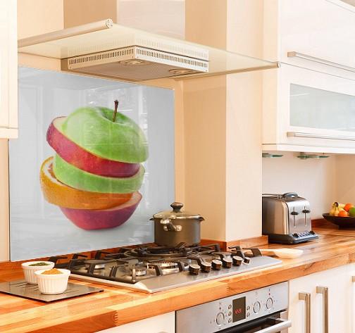 Fruit Slice diy kitchen glass splashback