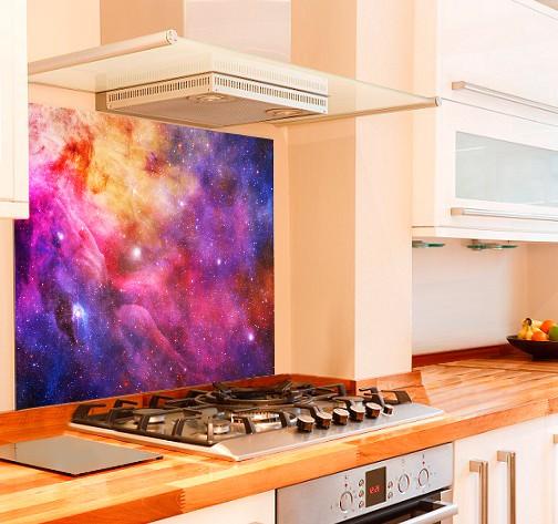 Galaxy Kitchen Glass Splashback