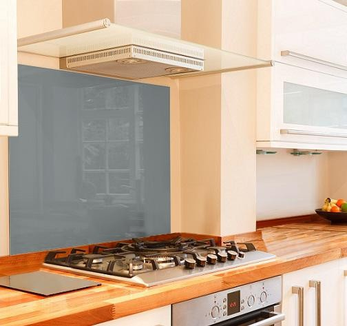 grey glass splashback mockup