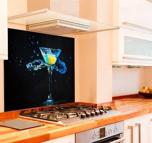 Happy Hour Kitchen Glass Splashback