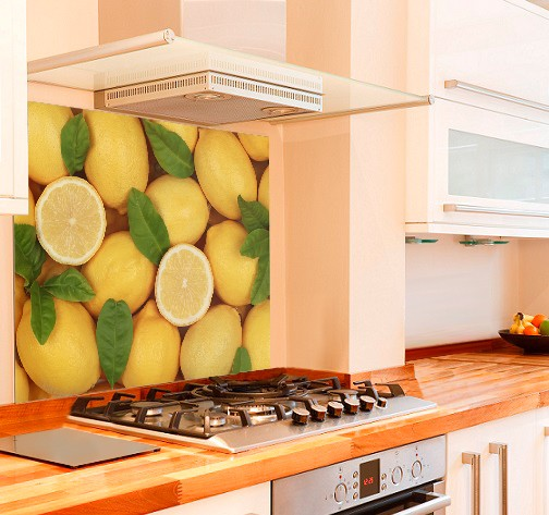 Lemons Kitchen Glass Splashback