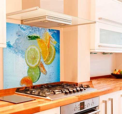 Fruit Drop Kitchen Glass Splashback