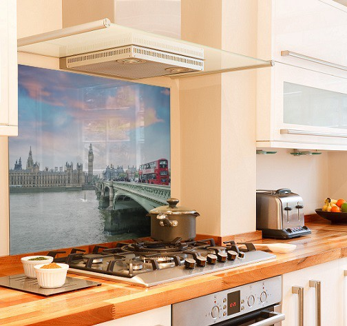 Bridge in London diy kitchen glass splashback