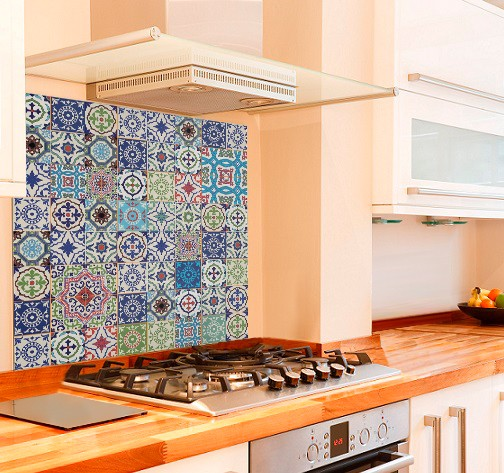 Marvelous Moroccan Tiles Kitchen Glass Splashback