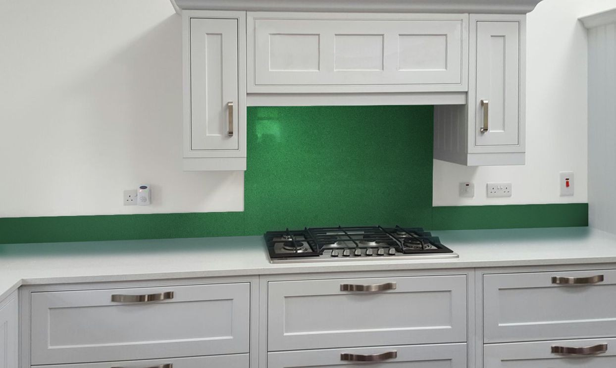 green splashbacks for kitchens glass metallic painted kitchen glass splashbacks pearl 4040