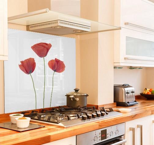 Glass   Buy Printed Glass Splashbacks   Poppies | SplashbacksUK    Splashbacks UK