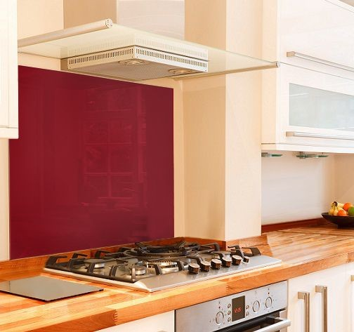 Red RAL 3003 glass splashback mockup