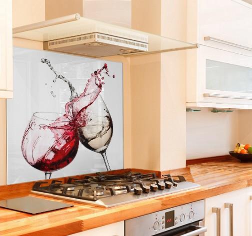 Cheers Kitchen Glass Splashback White Background