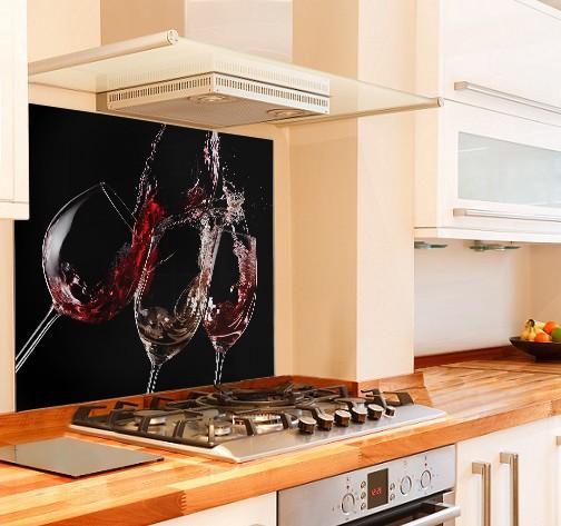 Cheers Kitchen Glass Splashback Black Background