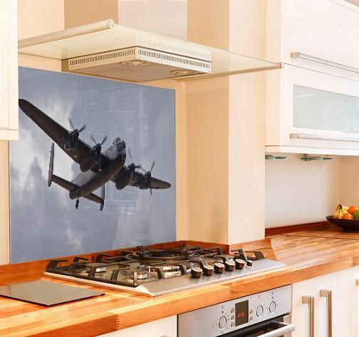 Lancaster Bomber Kitchen Glass Splashback