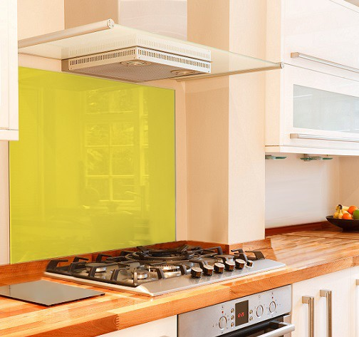 Yellow Glass Splashbacks