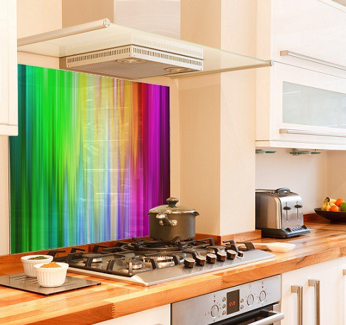 Spectrum diy kitchen glass splashback