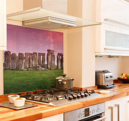 Stonehenge-sky diy kitchen glass splashback