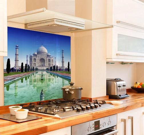 Taj-Mahal diy kitchen glass splashback