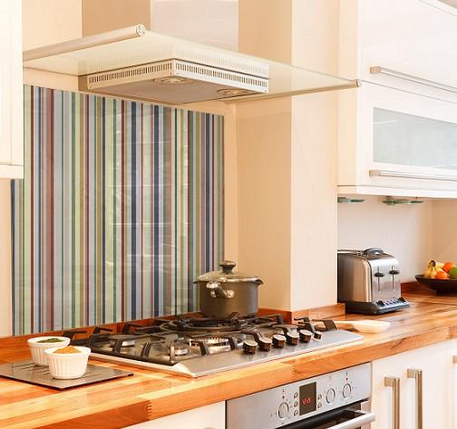 Texture stripe diy kitchen glass splashback