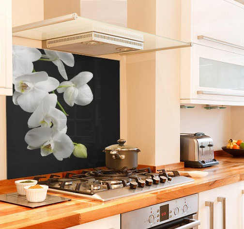 wild-orchid diy kitchen glass splashback