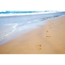 Beach Footprint glass splashback