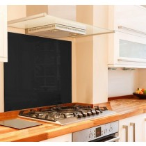 Black Glass Splashback 600mm x 640mm