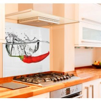 Chilli Water Kitchen Glass Splashback