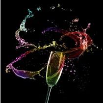 Colour Champers glass splashback