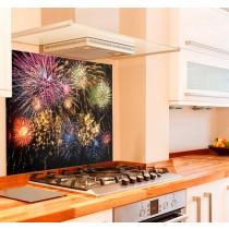 Fireworks Kitchen Glass Splashback