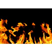 Flames Print Glass Splashback 600mm x 800mm