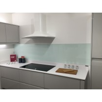 Glacier DIY Kitchen Natural glass splashback showroom