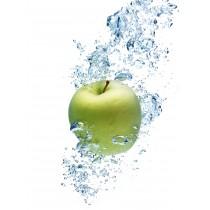 Apple Print Glass Splashback 750mm x 735mm