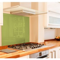 Lime glass splashback