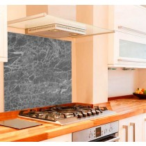 Grey Marble Kitchen Glass Splashback