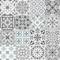 Grey Tile glass splashbacks