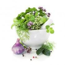 Herbs diy kitchen glass splashback