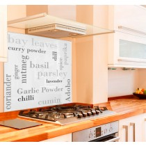 Herbs and Spices Kitchen Glass Splashback