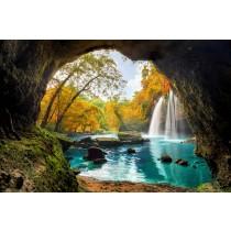 Hidden Waterfall glass splashbacks