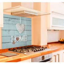 Home Is Where The Heart Is Kitchen Glass Splashback