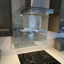 Silver Crackled Splashbacks