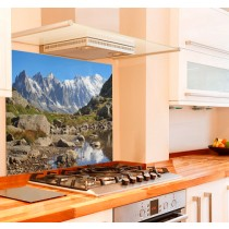 Mont Blanc Printed Kitchen Splashback