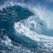 Ocean Wave sq diy kitchen glass splashback