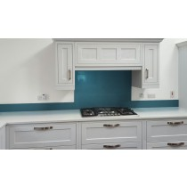 Metallic Pearl Gentian Blue diy glass kitchen splashback