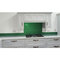 Metallic Pearl Green diy glass kitchen splashback