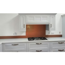 Metallic Pearl Orange diy glass kitchen splashback