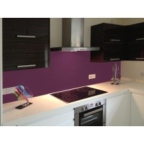 RAL 4005 - Satin Brushed Glass DIY Splashback