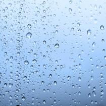 Waterdrops Blue sq diy kitchen glass splashback