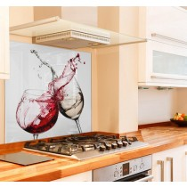 Cheers Kitchen Glass Splashback White Background