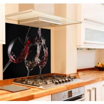 Cheers Kitchen Glass Splashback Black Background